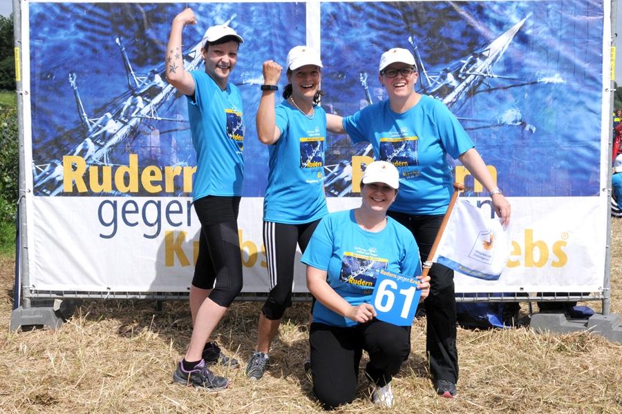 Das Team der Magdeburger Krebsliga unterlag zwar gegen das Boot des Magdeburger Förderkreis krebskranker Kinder. Doch die Frauen setzten mit Ihrer Teilnahme ein starkes Signal und zeigten, wozu man trotz der Diagnose Krebs in der Lage sein kann.