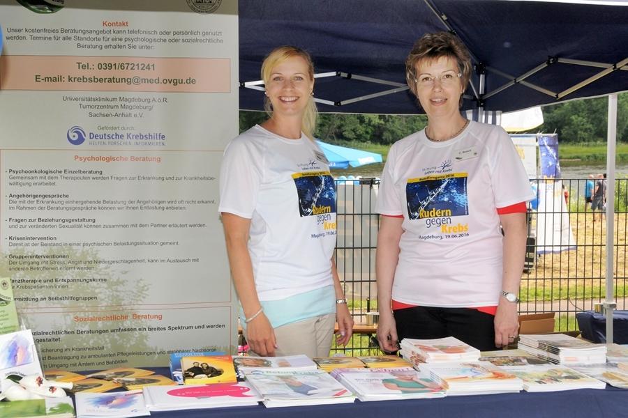 Jana Giera (links) vom Team der Psychosozialen Krebsberatungsstelle hat das Konzept für das Projekt Aktiv Bewegen und Entspannen - besseres Wohlbefinden während und nach der Krebstherapie entwickelt, dem sämtliche Erlöse der Regatta zugutekommen werden.
