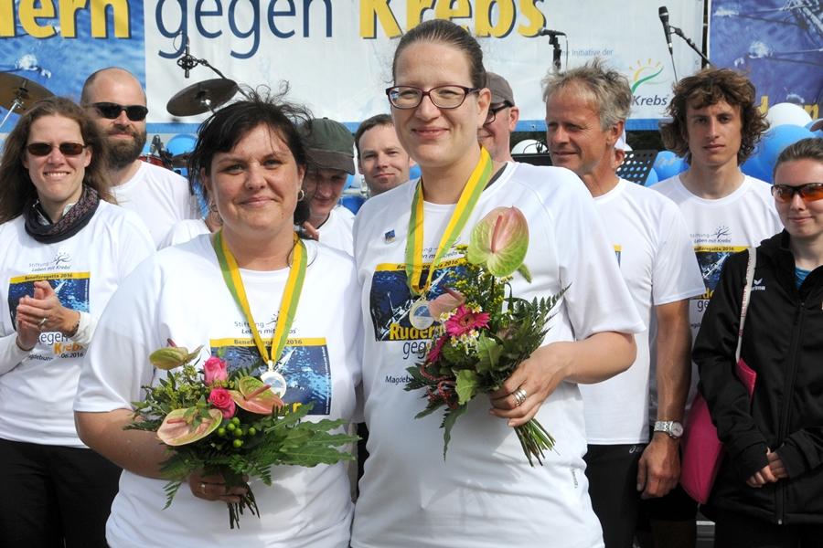 Und last but not least Stefanie Deutsch und Dr. Julia Noack vom Tumorzentrum – ihrem unermüdlichen Einsatz vor und während der Veranstaltung war es zu verdanken, dass die Regatta zum ersten Mal in Magdeburg stattfinden konnte und alles perfekt organisiert